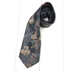 Vintage Mickey Mouse Paisley Tie